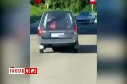 حمل بیرحمانهی تابوت با خودروی شخصی + فیلم