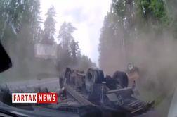 کشته شدن 2 راننده در تصادف وحشتناک کامیون و خودروی سواری+ فیلم
